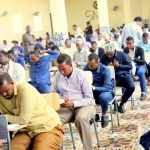 More than 215 applicants have sat for a written exam today at the Somali National University
